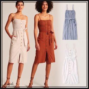ABERCROMBIE & FITCH burnt Orange summer dress
